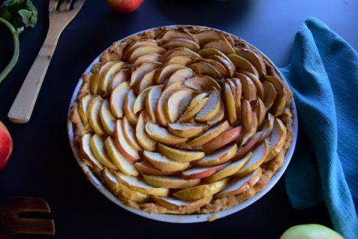 Kruche ciasto tarta z jabłkami zachwyca wyglądem Thermomania Thermomix