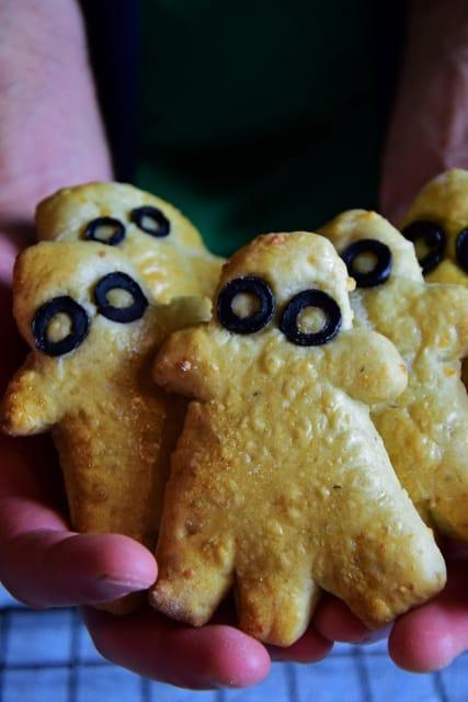 Ciasteczka duchy serowo-orzechowe na Halloween Thermomania Thermomix
