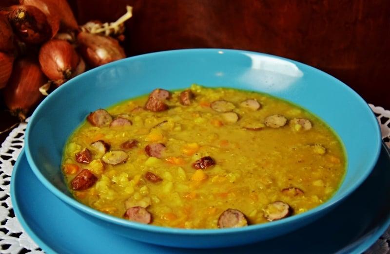Zupa z soczewicą i kiełbasą - szybki rozgrzewający obiad Thermomania Thermomix