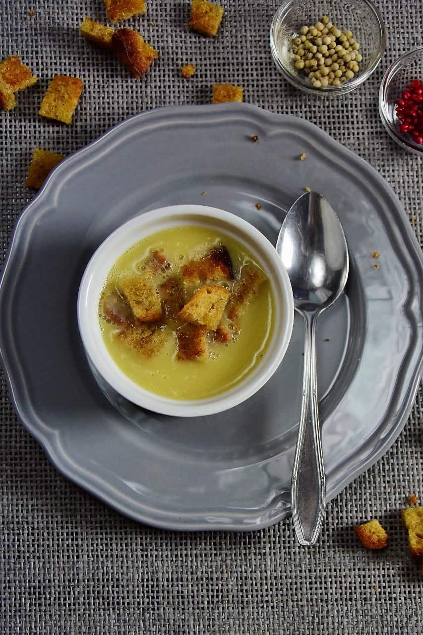 Zupa kalafiorowa z grzankami szybka zupa codzienna Thermomania Thermomix