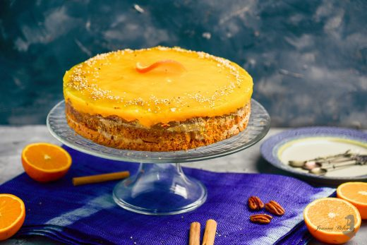 Ciasto marchewkowe z kremem daktylowym i galaretką Thermomania Thermomix