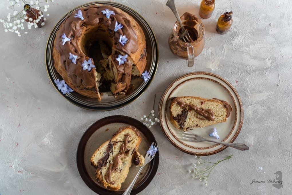 Babka drożdżowa z czekoladą, orzechami i żurawiną Thermomania Thermomix