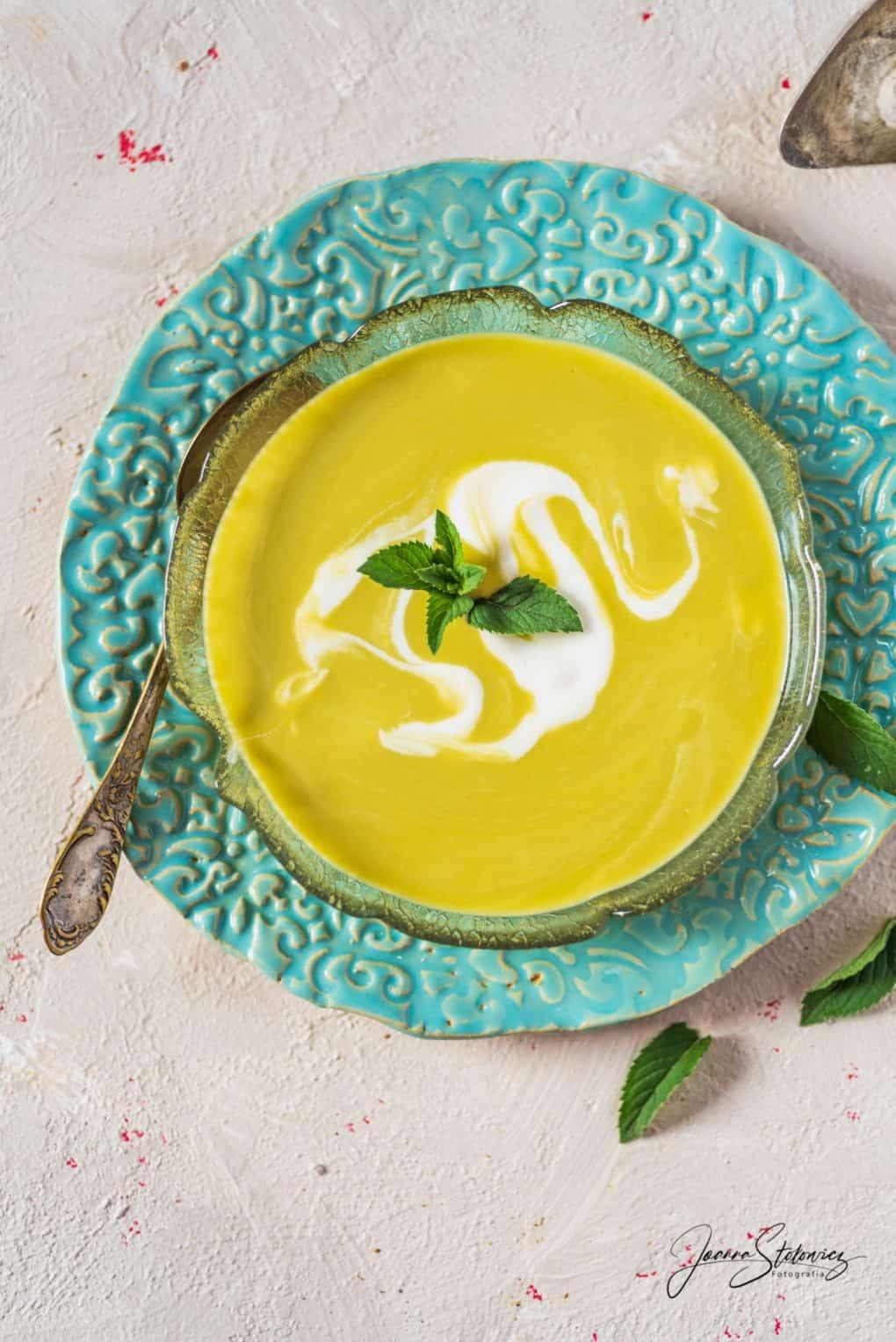 Zupa chłodnik z zielonych szparagów i pora Thermomania Thermomix